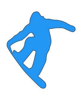Vinyl-Aufkleber, Motiv: Claremore Snowboard-Aufkleber, 12,7 x 14 cm, blau