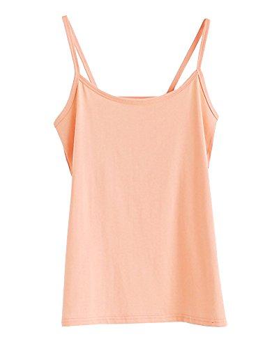 Canotte e Top Tanktop Canottiera Donna, Basics Shirt Senza Maniche Tinta Unita Casuale Anguria Rossa Pink