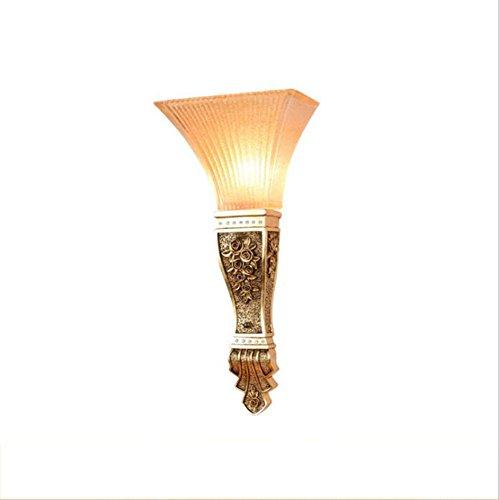 OOFAY Light@ Wandleuchte Industrielles Retro Wandlampe Persönlichkeit Harz Kreativ Blume Glas Lampenschirm E27 Innen Flur Hotel Restaurant Küche Esszimmer Europäischer Stil (Wandlampen Glas Mundgeblasenes)