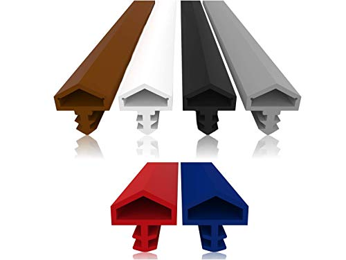 Türdichtung mit Antidehnungsfaden - 4mm Nutbreite - 7mm Nuttiefe - 12mm Falz schnelles einfaches Einbauen hochwertige Haustürdichtung Gummidichtung Türanschlagdichtung Zimmertürdichtung (Grau 5m)