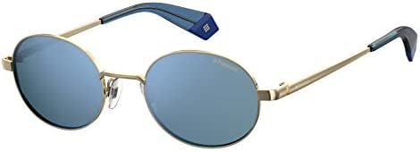 POLAROID Unisex Sunglasses Round PLD 6066/S - Gold/Blue