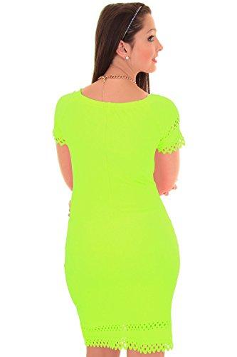 Branded - Robe moulante épaules dénudées Neon-Limettengrün