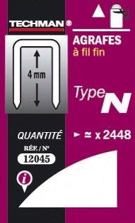 AGRAFES FIL FIN TYPE N 6MM