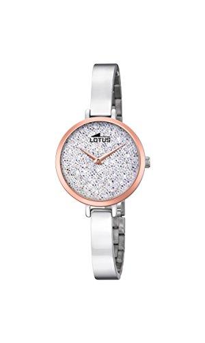 Lotus Watches Reloj Análogo clásico para Mujer de Cuarzo con Correa en Acero Inoxidable 18563/1