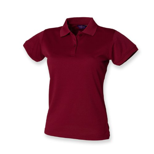Polo Shirt CoolPlus ® de henbury femmes Bourgogne