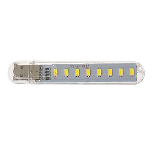 Computer Schreibtisch Mini USB Lampe DC5V 8 Perlen LED Portable Highlight NachtlichtWeißes Licht