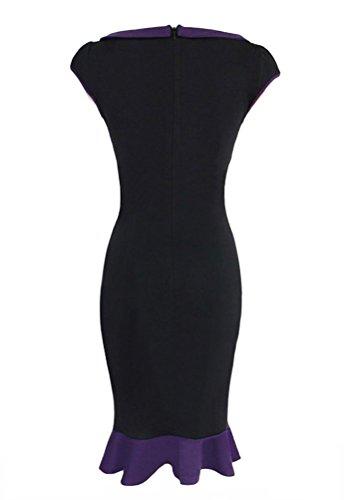 Brinny Chaud Ronde Col de poupée Femme Queue de poisson Robe Zipper Fashion Crayon Robe de Cocktail Soirée Party Dress Noir / Bleu / Vert / Vert Foncé / Rouge 5 Taille: S - 2XL Noir