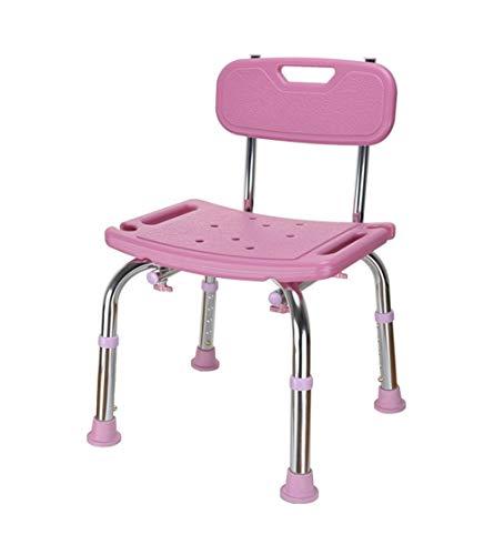 Patio-stuhl-riemen (SHBST Abnehmbarer Mehrzweck-Duschstuhl Aus Edelstahl Bad Patio Outdoor (Color : Pink))