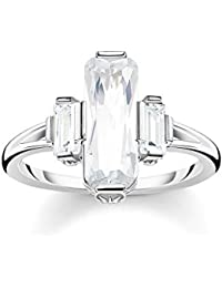 Thomas Sabo Femme Bague Pierres Blanches Argent Sterling 925 TR2267-051-14