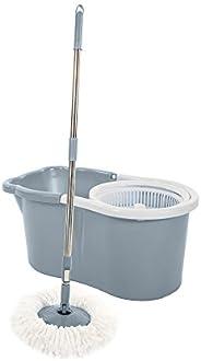 Bathla Ultra Clean Lite - Easy Microfiber Spin Mop (Grey)