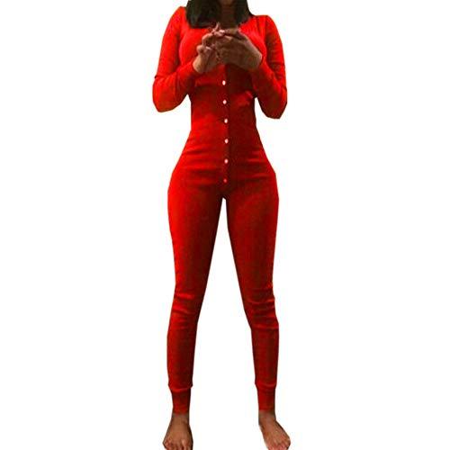Onesies Für Frauen UFODB Damen Pyjamas Onesie Wolle Langarm Nachtwäsche Freizeitanzug Fitnesshosen Overall Hausanzug Trainingsanzug Pyjama Jumpsuit Jogging Training Anzug