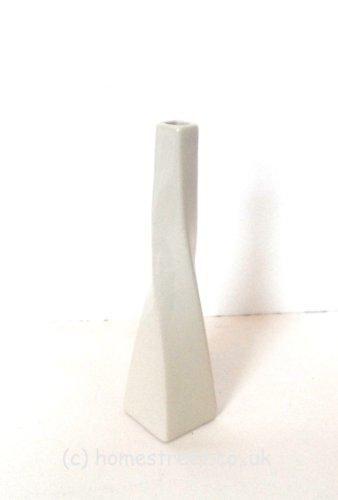 Blanc Homestreet Vases Vase en céramique Design torsadé 25 cm-Idéal pour cadeaux ou fleurs