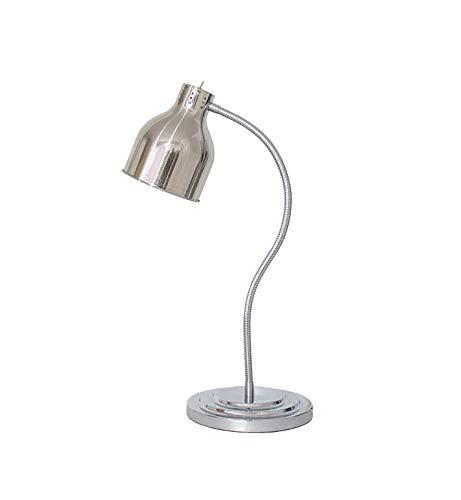 als Lebensmittel Erwärmungslampe Einzelne Glühbirnen Display Heizung Konservierung Licht Kommerziell Tragbar Professionelle Wärme Lampe Speisenwärmer,Silver ()