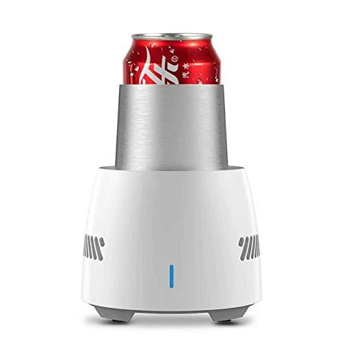 Schnelle Kühlbecher, Mini-Desktop-Schnellkühlbecher Energieeffizienter elektronischer Getränke- / Bier- / Weinkühler, Tassen-Eismaschine zum Einfrieren von Getränken und Wasser ( Color : White )
