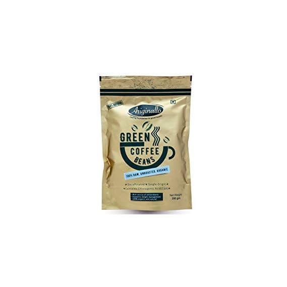 Ariginallo Premium Organic Green Coffee Beans for Weight Loss (350 Gm)