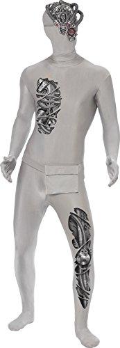 d Skin Roboter Kostüm, Ganzkörperanzug und Bauchtasche, Größe: M, 38876 (Teenage Kostüme Ideen)