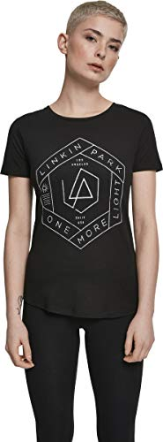 MERCHCODE Ladies Linkin Park OML Fit Camiseta, Hombre, blk/Olive,...