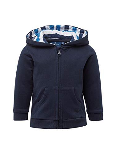 TOM TAILOR für Jungen Strick & Sweatshirts Sweatjacke mit Rückenprint Navy Blazer Blue, 50/56 Knit Blazer-jacke