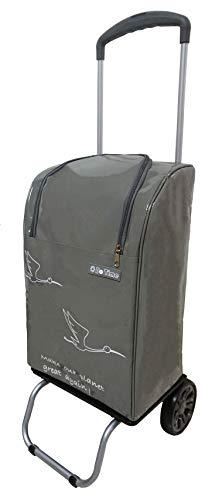 Bo Time Einkaufswagen 2 Räder mit Teleskopgriff - Tasche wasserdicht mit Reißverschluss 40L - Marke