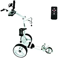 Elektro Golf Trolley PGE 3.0 Funkfernbedienung, 400W , Akku 33Ah, GPS-Halterung, weiß
