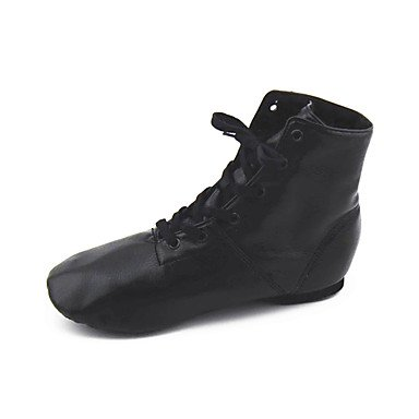 Frauen Tanzschuhe Leder Jazz Stiefel Flat Heel Performance Ruby