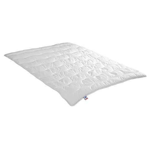 Irisette leichte Sommerdecke Steppbett Jette, 95 Grad waschbar, inkl. Aufbewahrungstasche, 135 x 200 cm, weiß