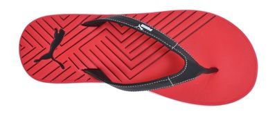 bf148786f58165 Puma 18751808 Mens Red And Black Rubber Flip Flops 9 Uk- Price in India