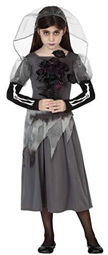 Braut Kostüm Mädchen Tote - Fancy Me Mädchen Totes Zombie Skelett Braut Halloween Karneval Kostüm Outfit 3-12 Jahre