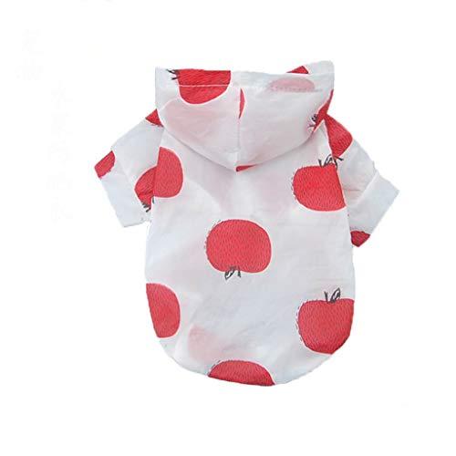 QLMS Pet Kleidung Sommerkleid Dünnschliff Obst atmungsaktiv Sonnencreme Kleidung Teddy Klimaanlage Service Kleiner Hund niedlichen Hundemantel (Color : B, Size : M)