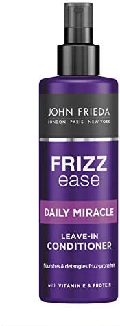 John Frieda Frizz-Ease Daily Miracle Leave-In Conditioner 200ml - Moisturise unmanageable, frizzy hair. Instantly detangle a