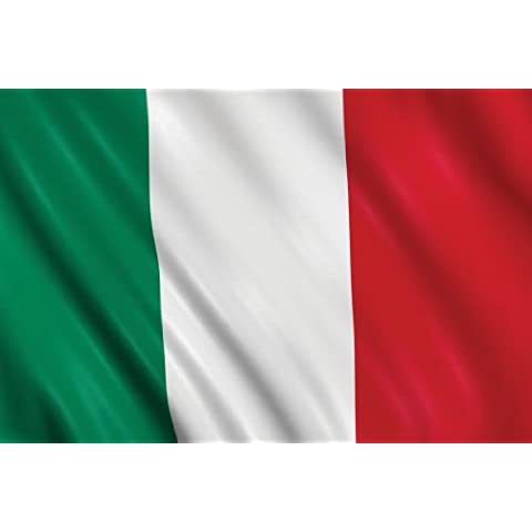 BANDIERA ITALIA ITALIANA TRICOLORE cm. 150 x 90 poly lucido acetato