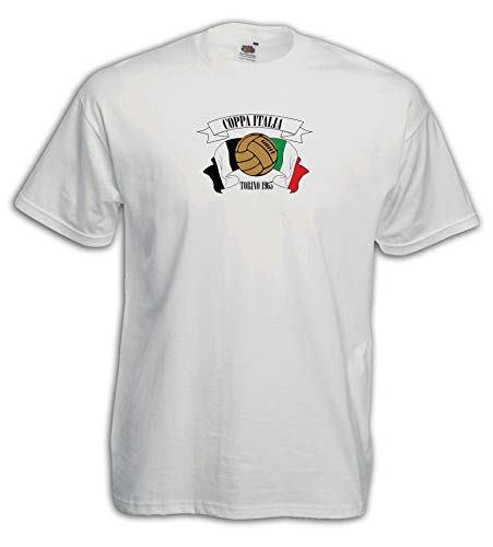 Settantallora - Camiseta J3544 Coppa Italia Torino Vintage Football Bianco L