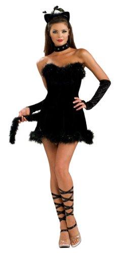 itty Gr. S für Faschingsspaß Kostüm Damen Tierkostüm Faschingsspaß für Frauen Kostümkleid (Kitty Kostüme Für Frauen)