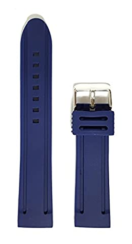 BRAND NEW Rubber/Resin Waterproof Metal Buckle Replacement Watchstrap/Band 22mm - RG62 (Blue)