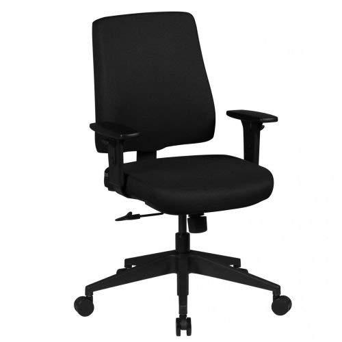 AMSTYLE Bürostuhl MATTEO Bezug Stoff Schwarz Schreibtischstuhl Design 120 kg Chefsessel Wippfunktion ergonomisch Polster Drehstuhl niedrige Rücken-Lehne höhenverstellbar mit Armlehnen Niedriglehner