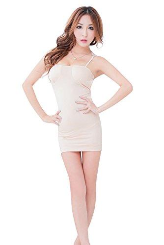 Shangrui Femminile Bretelle Racy Lingerie Slim Anca Abbigliamento Pannello Esterno Dell'involucro Nightclub YF047 Bianco