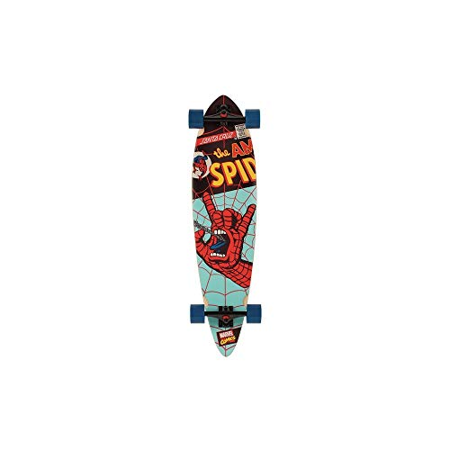 Santa Cruz Skateboard Longboard Marvel Spiderman Hand Pintail 9.5 x 39.0 Zoll -