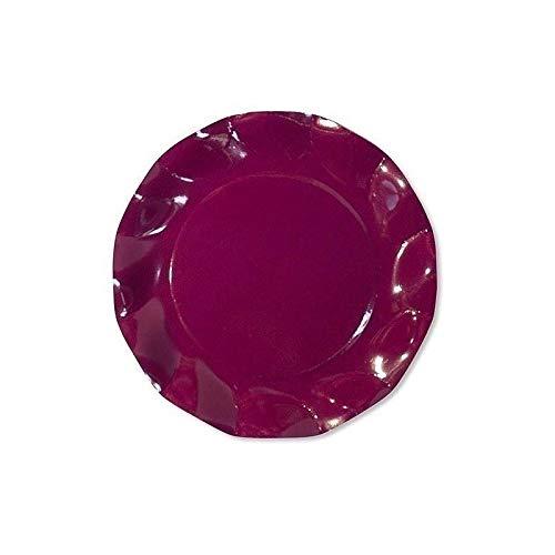 10 Assiettes Corolle prune