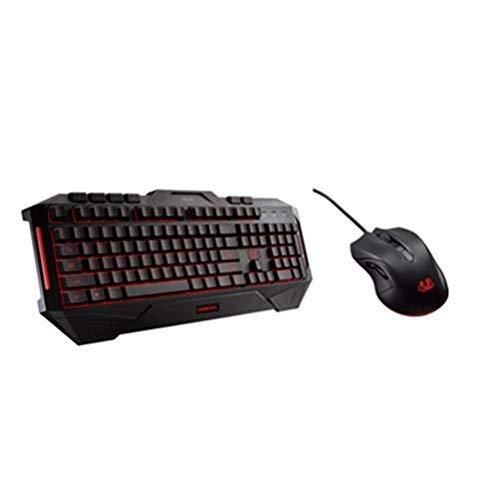 ASUS Cerberus Combo Gaming Desktop Set (mit Maus und Tastatur, deutsches QWERTZ Tastaturlayout, beleuchtet, kabelgebunden)