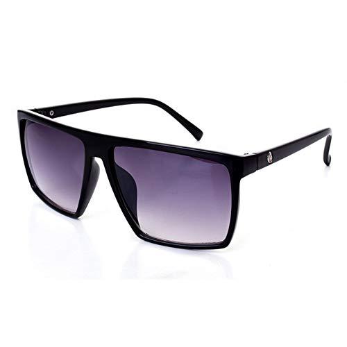 CCGSDJ Übergroße Flache Top Sonnenbrille Frauen Männer Platz Sonnenbrille Vintage Brillen Retro Männlich Brillen