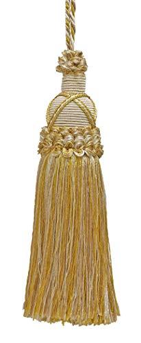 Deko 14cm Schlüssel Quaste,, light gold, ivory Imperial II Collection Style # ktic Farbe: Elfenbein Gold-2523 -