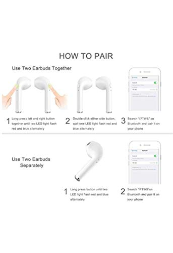 9d746288945 71% OFF on SANNIC Dacom Twin True Wireless Bluetooth 4.2 Earpods on Amazon  | PaisaWapas.com