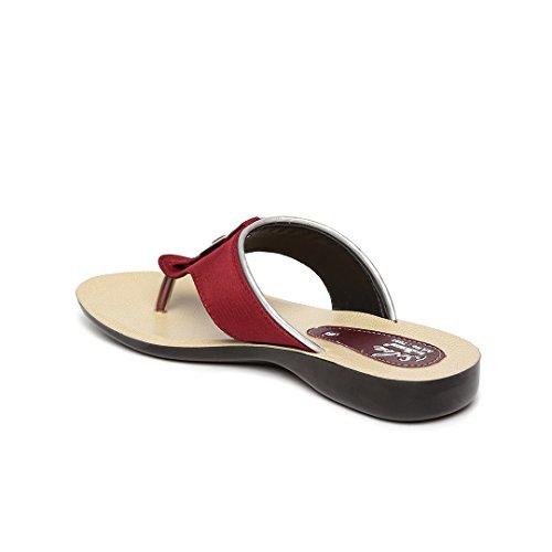 Paragon Women's Maroon Fashion Slipper-5 UK/India (38 EU)(PU7097L)