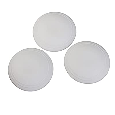 Self Adhesive Rubber Wall Guards Protectors Door Handle Bumper Stoppers 6cm 3Pcs - inexpensive UK light store.