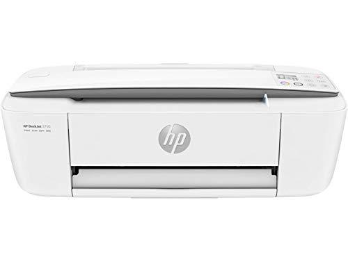 HP DeskJet 3750 T8X12B Stampante Multifunzione a Getto di Inchiostro, Stampa, Scannerizza, Fotocopia, con Wi-Fi e Wi-Fi Direct, 2 Mesi di HP Instant Ink Inclusi, Grigio Perla