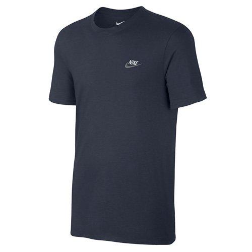 7b5b1167ad7840 Nike Herren NSW Club EMBRD FTRA Short Sleeve Top M Obsidian Dark Grey