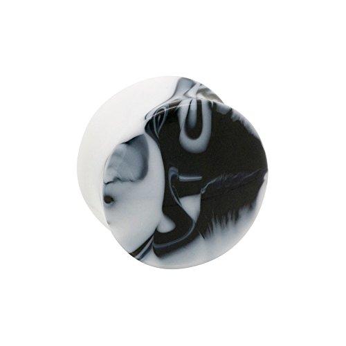 Piercing Plug Per Orecchio Marble Blue Banana Body Piercing (Nero) - 16mm (Calibro/Spessore)