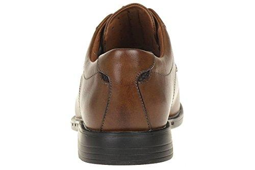 Clarks Unbizley View leather Herren Men Schnürhalbschuhe Leder braun leicht Braun (Tan Leather)