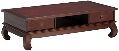WEBER INDUSTRIES Table Basse Opium 4 tiroirs/Exotique Bois, 1