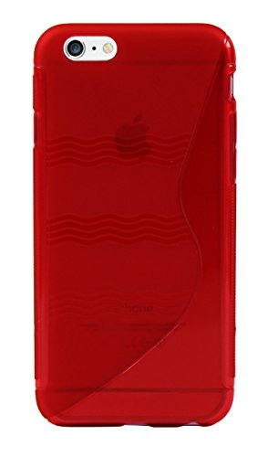 Luxburg® Glaze Design Schutzhülle für Apple iPhone 6 in Farbe Iris Violett / Lila, Hülle Case aus TPU Silikon Feuerrot / Rot